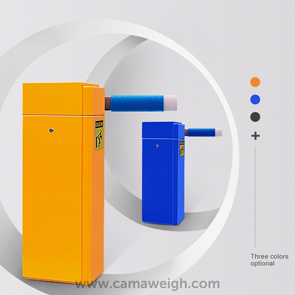 Buy boom barrier with rack and door color in orange, blue, and black