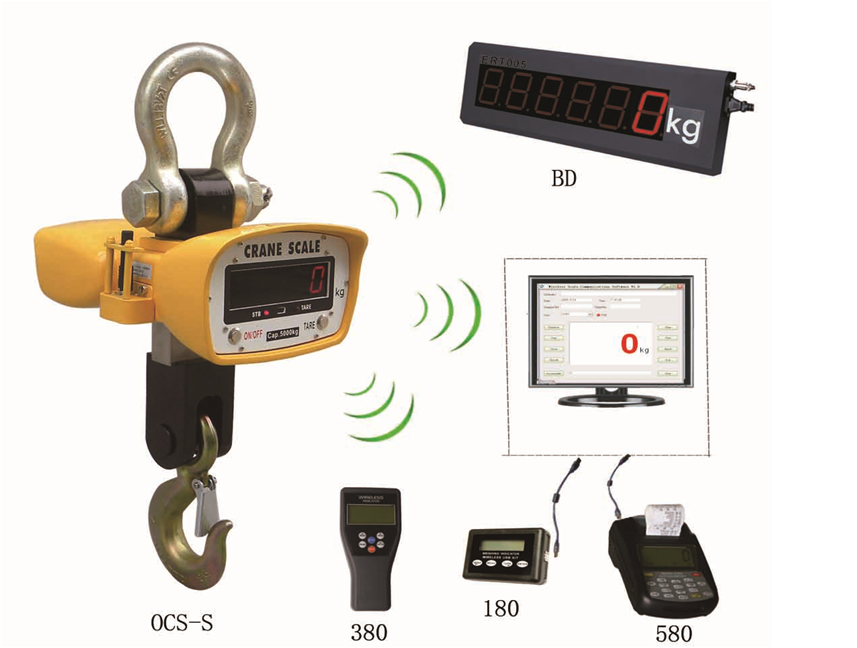 Digital crane Scale with Wireless System that reads on kilograms (kg) for sale