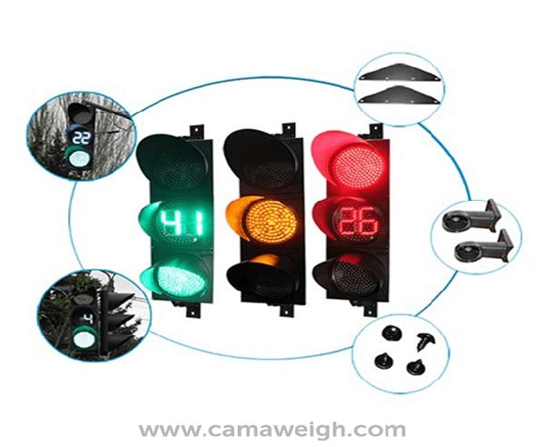 Buy 3 Lights LED Traffic Light with Timer on sale
